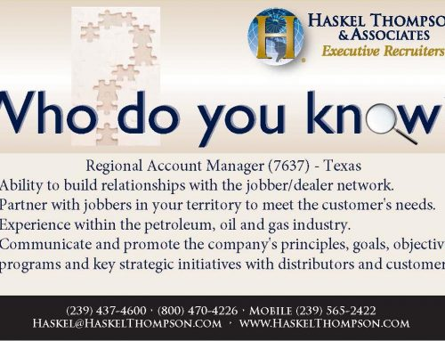 Career Opportunity – Regional Account Manager 7637