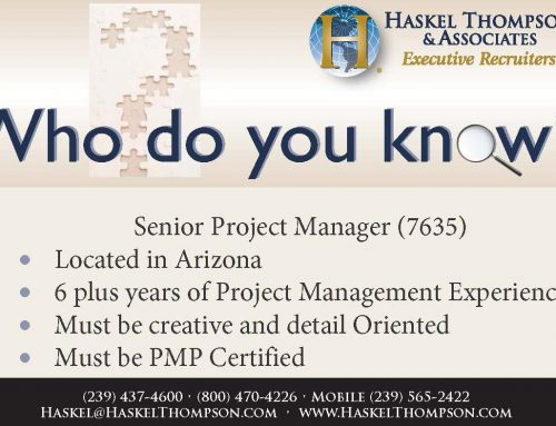 Career Opportunity – Senior Project Manager 7635